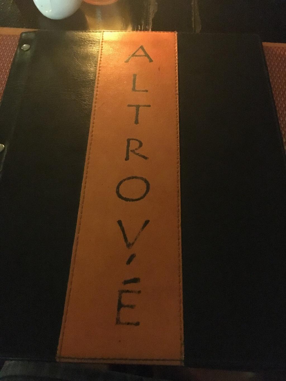altrove menu