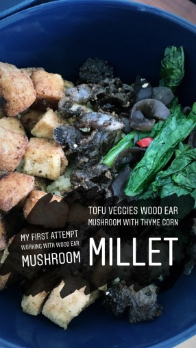 Wood Ear Mushroom, Tofu and Veggies Millet Bowl